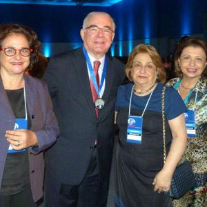 Malu Fatorelli (filha do Dr. A. Fatorelli), Miguel Padilha, Sra. Maria Thereza Fatorelli (viúva), Regina Padilha