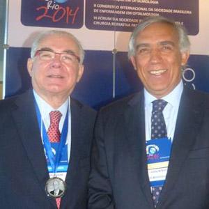 Miguel Padilha e Prof. Joaquim Murta, Titular de Oftalmologia da Universidade de Coimbra