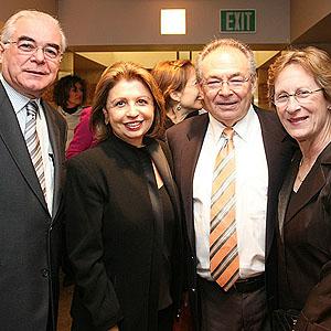 Casais Miguel e Regina Padilha com Howard e Vicky Fine (Oregon, USA) durante recepção na sede da American Academy of Ophthalmology, San Francisco, USA